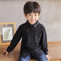 男童衬衫长袖秋装纯棉儿童衬衣男孩