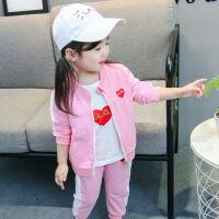 女宝宝1婴儿童0衣服3岁半小童洋气秋冬装女童2春装韩版三件套装潮