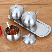 304不锈钢厨房调味罐烹饪用具带盖大容量 不生锈油盐调料储物器皿