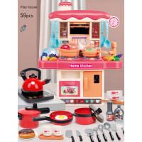 �和��^家家�N房玩具套�b女孩做�炒菜����煮��玩具男孩仿真�N具