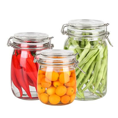 玻璃食品密封罐储物罐玻璃瓶密封罐玻璃罐子密封食品罐