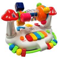 婴儿童早教摇铃旋转床铃6-12个月男孩女宝宝益智力玩具1-2-3周岁 +充电器+充电电池