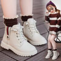 女童�R丁靴秋冬季新款�r尚大棉皮靴�和�男童加�q棉鞋
