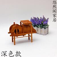 怀旧竹木制品风车模型家具装饰品摆件工艺品茶几卧室摆设创意家居