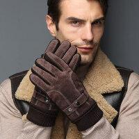 真皮手套男冬天加绒骑行防寒保暖加厚触屏冬季户外骑车摩托棉手套