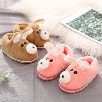可爱卡通儿童棉鞋宝宝男女童毛绒小孩室内冬季包跟家居家用棉拖鞋
