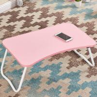 笔记本电脑桌床上用书桌可折叠学生懒人宿舍做桌小桌子学习桌简约 可爱粉 W腿