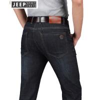 JEEP吉普牛仔裤男2018春夏新款牛仔裤男士商务休闲水洗微弹牛仔长裤