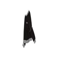 新品套头色织罗纹黑白卫衣青年圆领休闲短外套 黑白撞色