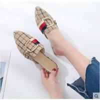 女士拖鞋女时尚外穿百搭潮款新款韩版一字拖厚底网红沙滩拖鞋