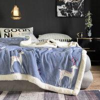 双层毛毯被子冬季羊羔绒加厚保暖珊瑚绒毯子法兰绒女垫床单人冬用父亲节