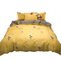 南极人四件套全棉纯棉100床上用品学生单人被套床单宿舍三4件套