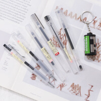 三年二班简约文具套装中性笔水笔学生写字笔办公签字笔0.38/0.5mm