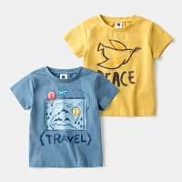 童装男童T恤短袖圆领上衣3岁宝宝夏装儿童体恤纯棉韩版
