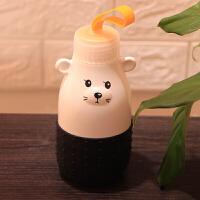 创意可爱情侣卡通陶瓷杯带盖超萌男女学生儿童喝水早餐牛奶马克杯