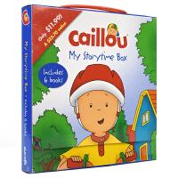 【首页抢券300-100】Caillou: My Storytime Box 卡由故事绘本套装 儿童英语手提盒装故事集