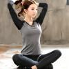 【满149减100】奇安达女装2018春季新款瑜伽服运动套装女针织弹力健身跑步两件套装