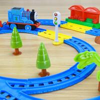 儿童玩具百变小火车套装男孩礼物轨道车玩具电动百变轨道赛车