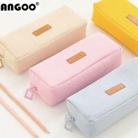 韩国文具袋初中男女生文具盒 创意简约铅笔盒学生纯色笔袋