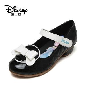 鞋柜/迪士尼秋款公主鞋小皮鞋低跟冰雪奇缘女童鞋1