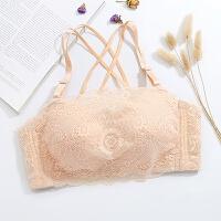 多种穿法 前面双层网防走光抹胸式文胸聚拢收副乳内衣薄
