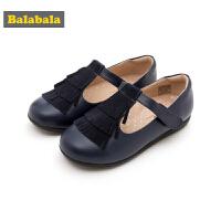巴拉巴拉童鞋女童单鞋公主鞋2018新款秋季小童儿童皮鞋复古鞋子女