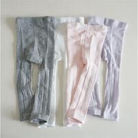 夏季网眼薄款 白色儿童连裤袜 女童九分打底袜 全棉加档裤袜