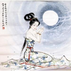 薛林兴《月下美人图》