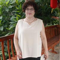 妈妈装夏装套装中老年人女装短袖T恤女裤40-50岁中年妇女棉麻服装