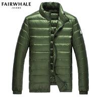 马克华菲羽绒服男轻薄短款韩版修身冬装外套冬季上衣