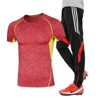 运动服饰夏季新款运动休闲套装男春夏跑步健身服吸湿速干运动服短袖长裤套装