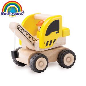 [当当自营]泰国Wonderworld 小小吊车 仿真木质玩具车