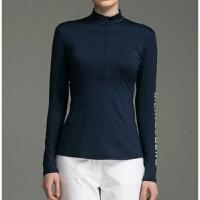 高尔夫衣服女 长袖T恤 女士打底衫紧身衣防�鸱�抗 f服装女装