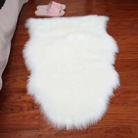 北欧仿羊毛地毯卧室床边毯客厅茶几地毯装饰毯子长毛毛绒地毯白色 白色 毛绒