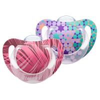 德国NUK智选型硅胶安抚奶嘴 初生型0-6月/一般型6-18月(2个装)颜色*