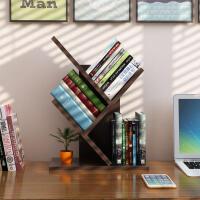 御目 书架 家用书房桌上个性树形小书架办公桌面多层木质架子儿童学生现代简约落地小书柜满额减限时抢家具用品