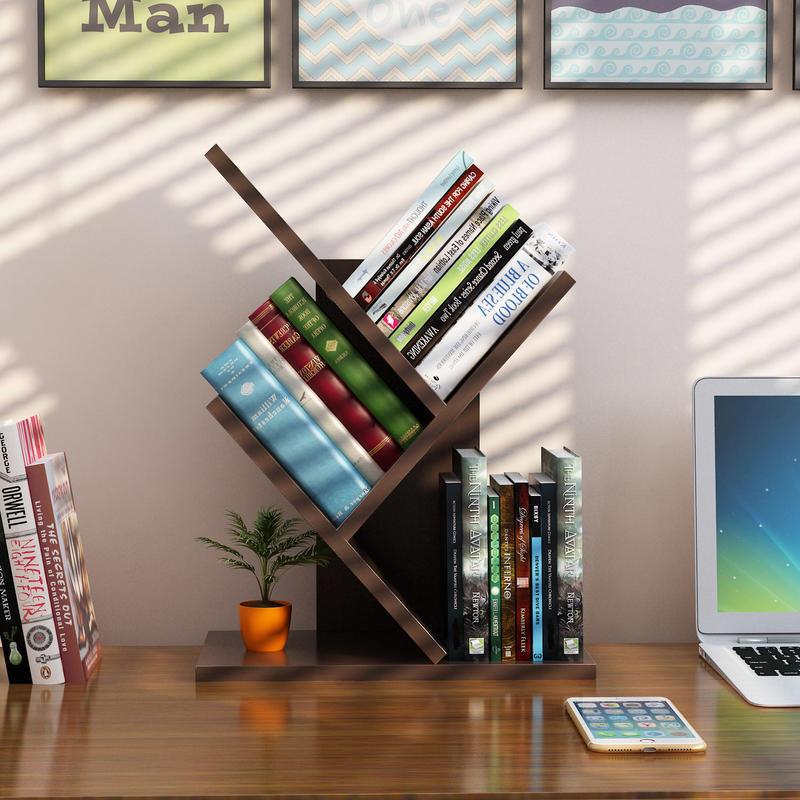 御目 书架 家用书房桌上个性树形小书架办公桌面多层木质架子儿童学生现代简约落地小书柜店铺支持礼品卡支付,偏远及部分地区不发货
