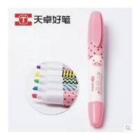 陆捌壹肆 天卓好笔 可爱TT农场大容量香味荧光笔 创意学生荧光笔TF86280  一套6色装
