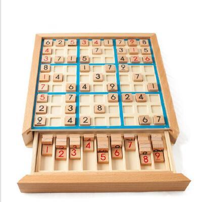 木制数独游戏 成人逻辑思维 九宫格数独棋 儿童早教益智桌游玩具
