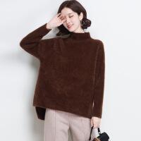 纯色半高领女士针织毛衣 现货秋冬新品女式毛衣打底衫 可混批 均码