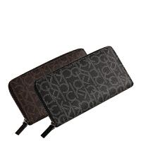 CK钱包长款男士正品CalvinKlein时尚经典印花拉链手拿包钱夹79468