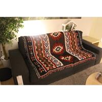 复古美式乡村几何软装毯文艺装饰毯艺术挂毯休闲毯沙发毛毯