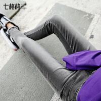 牛仔裤女高腰2017秋冬季新款韩版学生bf百搭显瘦紧身小脚铅笔长裤