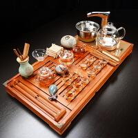 【品牌热卖】茶具套装四合一功夫玻璃茶具套装简约家用自动四合一体电磁炉茶盘茶道茶杯 2茶荷花玻璃茶具 玻璃全自动套装 3