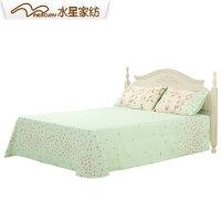 水星家纺夏沫之晨全棉床单双人纯棉1.8/1.5米床上用品