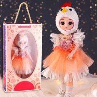 女孩玩具娃娃公主套装生日礼盒过家家6三四3一7一9岁女童新年礼物