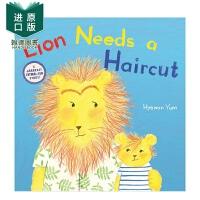 【现货】Lion Needs a Haircut 小狮子要理发 小孩剪头发恐惧 儿童绘本