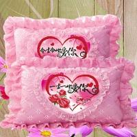 结婚十字绣枕头套一对单人枕蕾丝全绣款抱枕情侣卧室线绣新款枕套