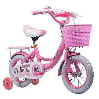 自行车3岁宝宝脚踏车2-4-6岁女孩童车单车12-14-16寸公主款