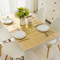 铭聚布艺餐桌布软质玻璃 PVC防水防油茶几桌布桌垫免洗餐厅水晶板 金典